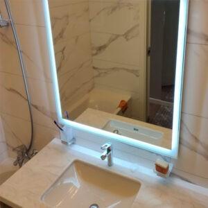 Столешница в ванную светлый мрамор
